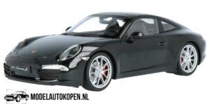 Porsche 911 Carrera S (Zwart) (20 cm) 1/24 Bburago