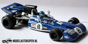 Tyrrell 004 Patrick Depailler French GP 1972 (Blauw) (10 cm) 1/43 Quartzo