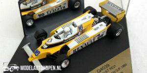 Renault RE21 Winner Brazilian GP 1980 René Arnoux (Wit) (10 cm) 1/43 Quartzo