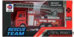 Brandweer Kinderspeelgoed Metal Truck Rescue Team (10 cm) #1