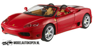Ferrari 360 Spider (Rood) (30cm) 1/18 Hot Wheels Metal Collection