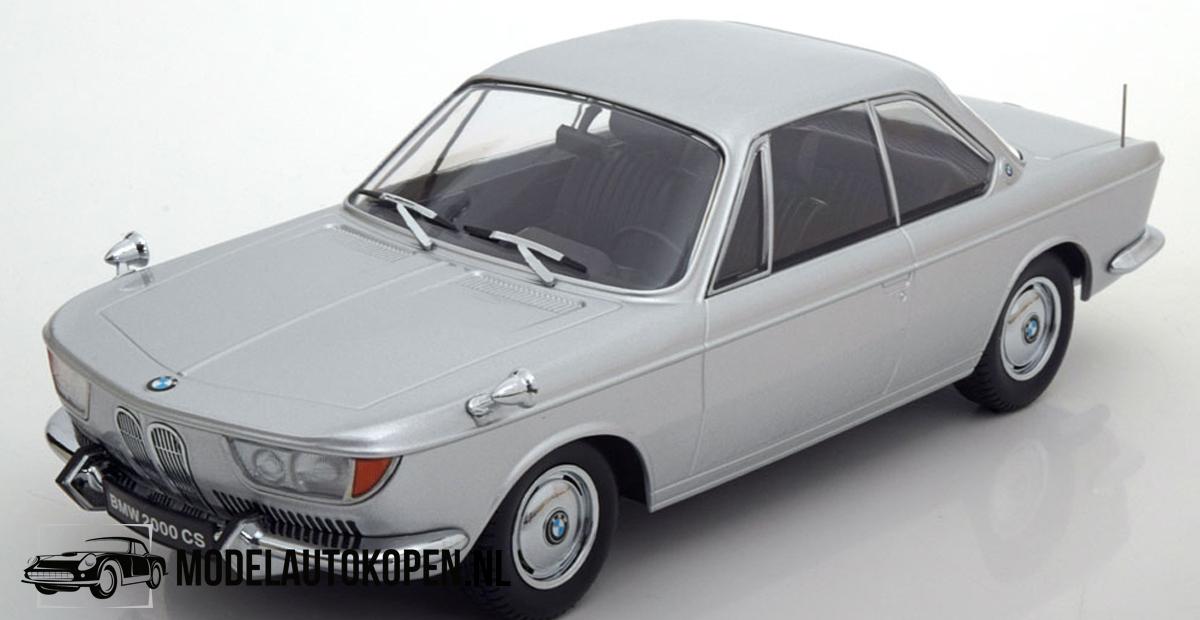 BMW 2000 CS 1965 - Limited Edition 1 of 1000 pcs. (Zilver) (30 cm) 1/18 KK Scale