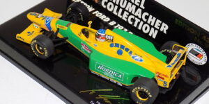 Benetton Ford B 193B (Groen/Geel) (10cm) 1/43 Michael Schumacher Collection MiniChamps