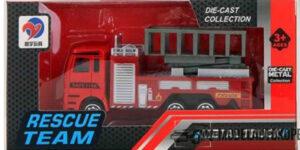 Brandweer Kinderspeelgoed Metal Truck Rescue Team (10 cm) #2