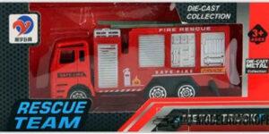 Brandweer Kinderspeelgoed Metal Truck Rescue Team (10 cm) #3
