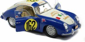 Porsche 356 Panamericana Race 1953 #162 (Blauw/Creme) (25 cm) 1/18 Solido