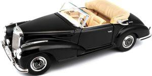 Mercedes-Benz 300SC 1955 (Zwart) (30cm) 1/18 Bburago