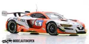 Renault R.S.01 GTronix 360 Team 24H Nürburgring 2018 (Oranje/Zilver) (10cm) 1/43 Spark