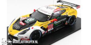 Chevrolet Corvette C7.R Larbre Compétition LMGTE AM Le Mans 2015 (Zwart/Geel/Wit) (10cm) 1/43 Spark