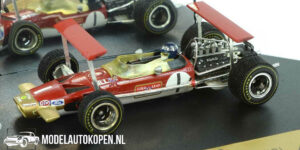 Lotus 49B Gold Leaf Graham Hill South African GP 1969 (Rood) (10 cm) 1/43 Quartzo