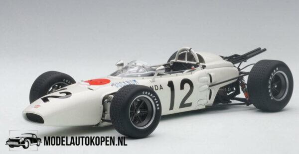 Honda RA272E Ronnie Bucknum Mexican GP 1965 (Wit) (10 cm) 1/43 Quartzo