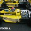 Renault RS01/1 Dutch GP 1977 J.P. Jabouille (Geel) (10 cm) 1/43 Quartzo