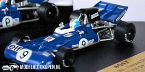 Tyrrell 003 Francois Cevert Winner USA GP 1971 (Blauw) (10 cm) 1/43 Quartzo