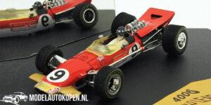 Lotus 49B Gold Leaf Graham Hill Monaco GP 1968 Winner (Rood) (10 cm) 1/43 Quartzo