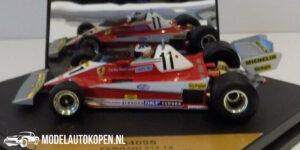 Ferrari 312 T3 Winner British GP-78 Carlos Reutemann (Rood) (10 cm) 1/43 Quartzo