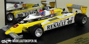 Renault RE23 Winner Austrian G.P. 1980 J.P. Jabouille (Wit) (10 cm) 1/43 Quartzo
