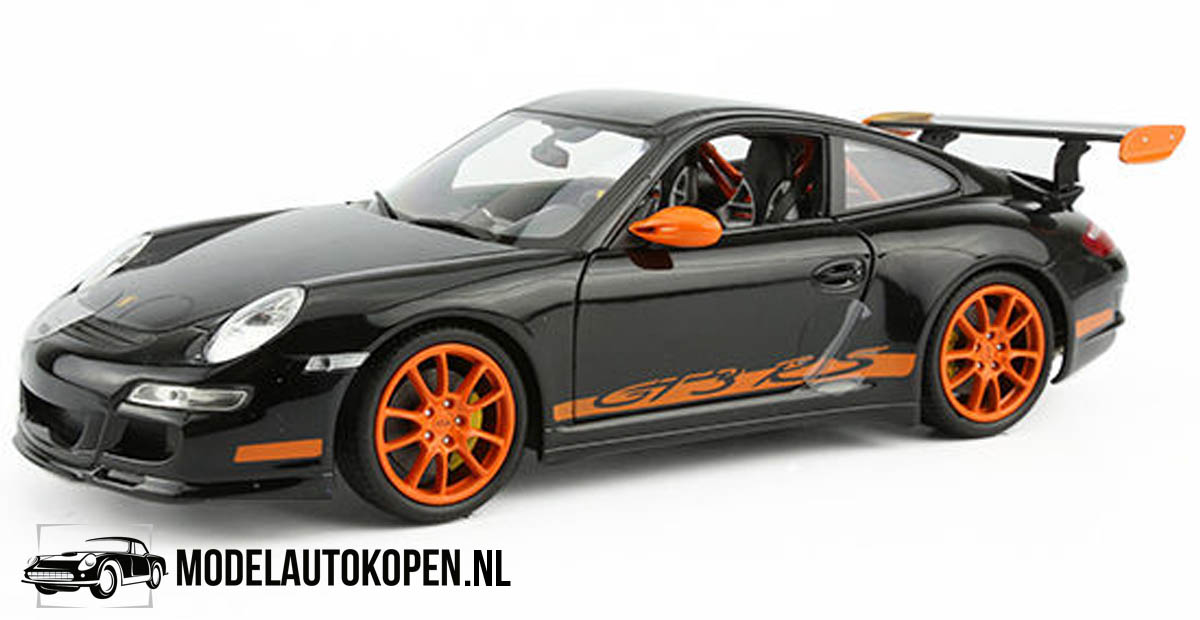 Porsche 911 GT3 RS (Zwart/Oranje) (20 cm) 1/24 Welly