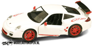 Porsche 997 GT3 RS Mark 2 (Wit/Rood) (20 cm) 1/24 Lucky Die Cast
