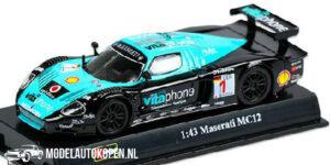Maserati MC12 (Zwart/Turquoise) (10 cm) 1/43 Bburago Race