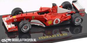 Ferrari F2002 (Rood) (10 cm) 1/43 Atlas