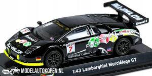 Lamborghini Murciélago GT (Zwart) (10 cm) 1/43 Bburago Race