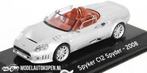 Spyker C12 Spyder 2008 (Zilver) (10 cm) 1/43 Atlas