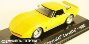 Chevrolet Corvette 1980 (Geel) (10 cm) 1/43 Atlas