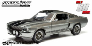 1967 Ford Shelby Custom Movie Star Mustang 'Eleanor' (Gone In 60 Seconds) (Zilver) (30 cm) 1/18 Greenlight