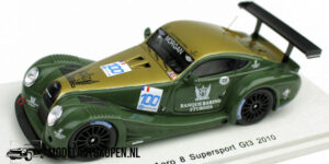 Morgan Aero 8 Supersport GT3 2010 (Groen/Goud) (10cm) 1/43 Spark