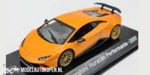 Lamborghini Huracán Peformante 2017 (Oranje) (10 cm) 1/43 Atlas