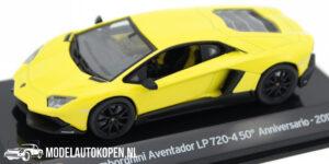 Lamborghini Aventador LP720-4 Anniversario 2013 (Geel) (10 cm) 1/43 Atlas