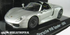 Porsche 918 Spyder 2013 (Zilver) (10 cm) 1/43 Atlas