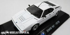 BMW M1 1978 (Wit) (10 cm) 1/43 Atlas