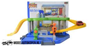 Street Fire Bburago Auto Service Speelgoed Garage (Inclusief 1/43 Modelauto)