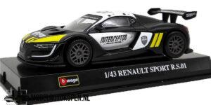 Renault Sport R.S.01 (Zwart) (10 cm) 1/43 Bburago Race