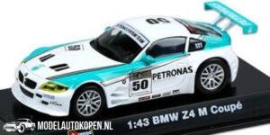 BMW Z4 M Coupé (Wit/Turquoise) (10 cm) 1/43 Bburago Race