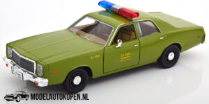 """1977 Plymouth Furry """"US Army Police"""" - The A Team (Groen) (20 cm) 1/24 Greenlight"""