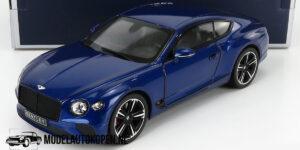 Bentley Continental GT 2018 (Blauw) (30 cm) 1/18 Norev