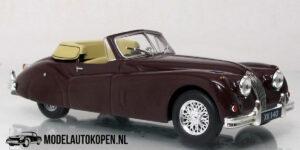 Jaguar XK140 1954 (Bordeaux Rood) (10 cm) 1/43 Atlas