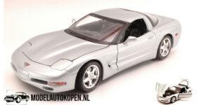 Chevrolet Corvette 1997 (Zilver) (30 cm) 1/18 Bburago