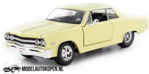 1965 Chevrolet Malibu SS (Creme) (20 cm) 1/24 Maisto