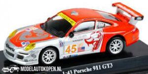 Porsche 911 GT3 (Zilver/Oranje) (10 cm) 1/43 Bburago Race