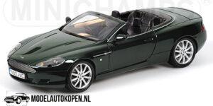 Aston Martin DB9 Convertible 2004 (Groen) (30cm) 1/18 MiniChamps