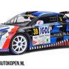 Renault A110 RGT Rallye Du Mont Blanc 2020 (Blauw/Zwart) (30 cm) 1/18 Solido