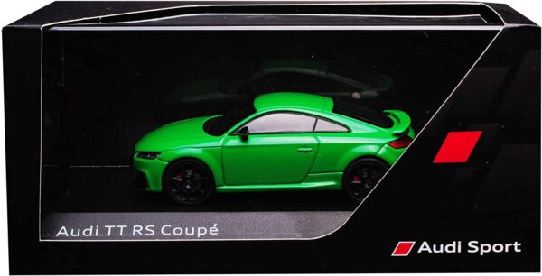 Audi TT RS Coupé (Groen) (10 cm) 1/43 Audi Collection Dealer model iScale