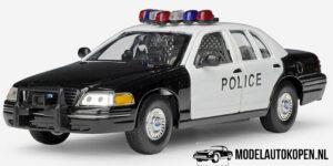 1999 Ford Crown Victoria Politie Auto (20 cm) (Zwart/Wit) 1/24 Welly