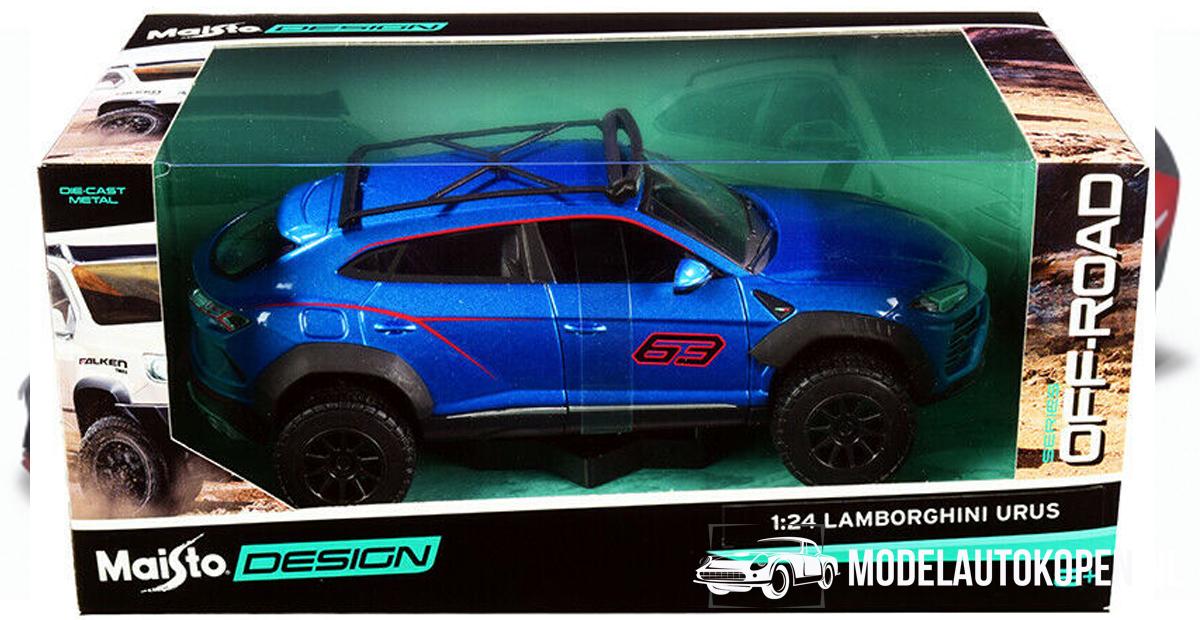 Lamborghini Urus Off-Road Blauw) (20 cm) 1/24 Maisto Design