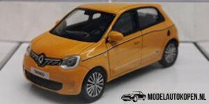 Renault Twingo (Geel) (8 cm) 1/43 Norev [Inclusief Luxe Showcase]