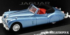 Jaguar XK140 Roadster 1957 (Lichtblauw) (10 cm) 1/43 Atlas