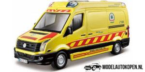 Volkswagen Crafter Ambulance (Geel) (11 cm) 1/50 Bburago Emergency